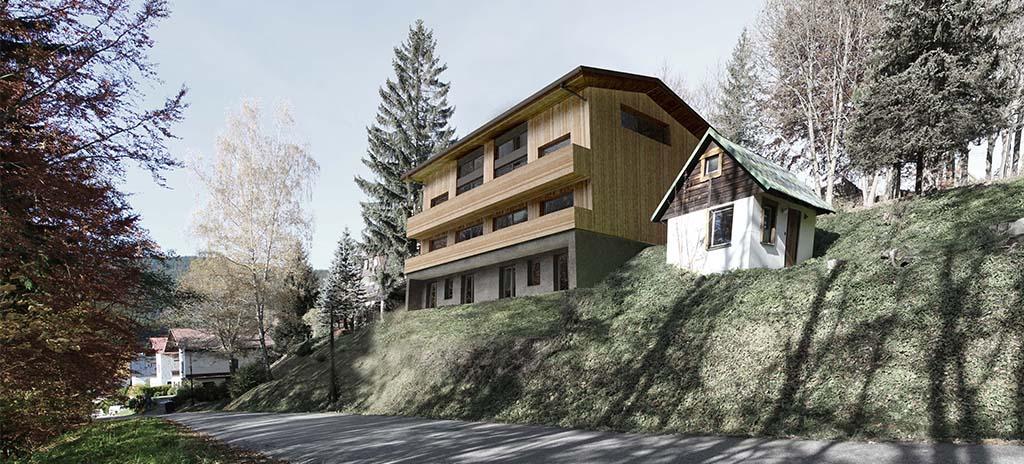 Horská chata v Krkonoších, perspektiva