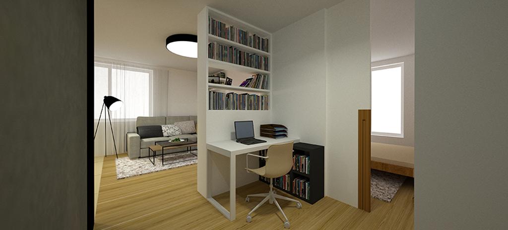 Rekonstrukce bytu - pracovna