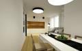 Rekonstrukce bytu - pohled z jídelny