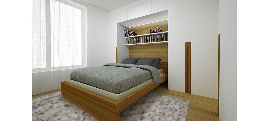 Rekonstrukce bytu - ložnice