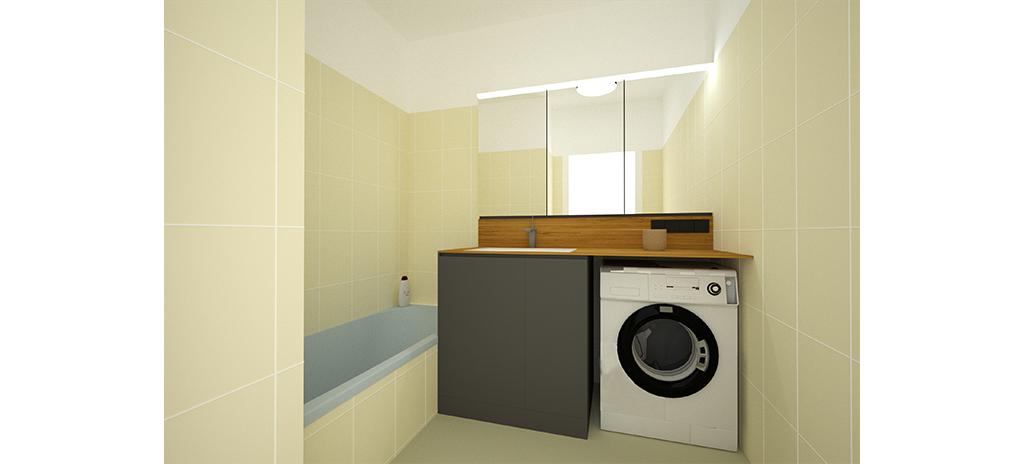Rekonstrukce bytu - koupelna