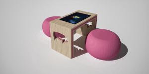stůl s interaktivní obrazovkou
