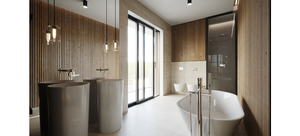 Interiér projektu Na Meandru_koupelna