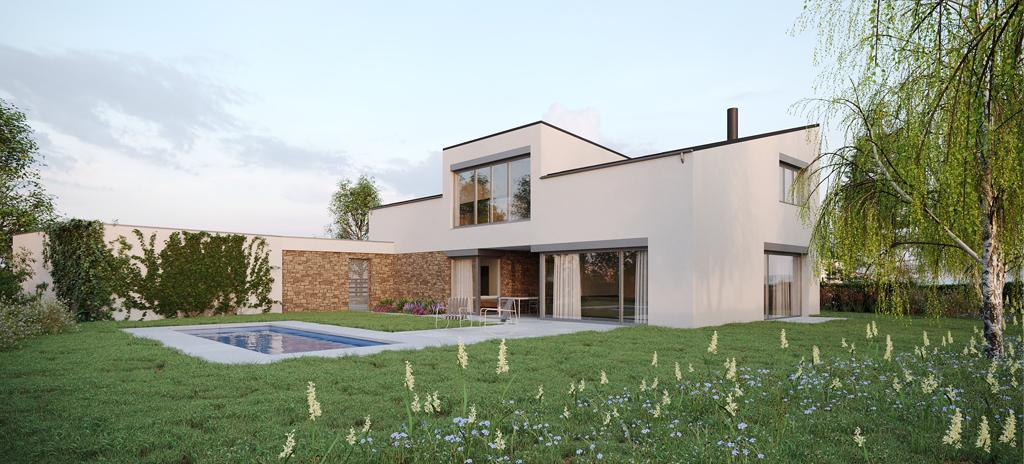 dům s pultovou střechou